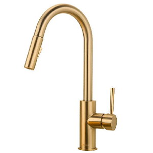 Gold Pull Down Sprayer Kitchen Faucet