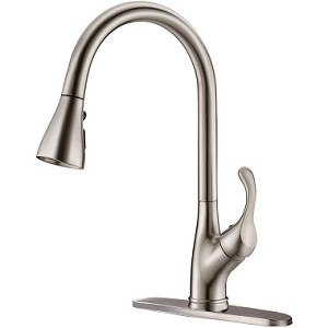 APPASO Pull Down Stainless Steel Brushed Nickel Kitchen Faucet