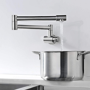 Avola Wall Mount Kitchen Sink Pot Filler Faucet