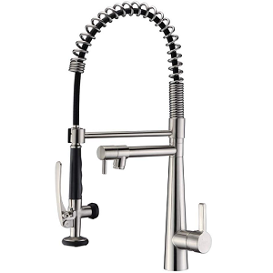 GICASA Commercial Style Pull Out Pre-rinse Kitchen Sink Faucet