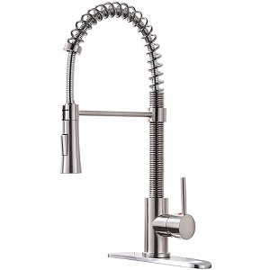KINGO HOME Lead-Free Pull Down Brass Kitchen Faucet