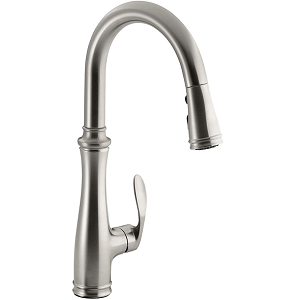 Kohler K-560-Vs Bellera Pull-Down Vibrant Stainless Steel Kitchen Faucet