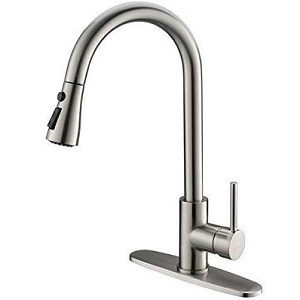 Moone Commercial Stainless Steel Brushed Nickel Kitchen Faucet