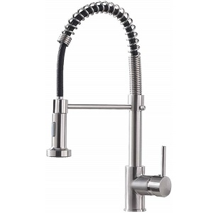 OWOFAN Lead-Free Commercial Solid Brass Pull Down Kitchen Faucet