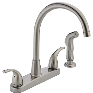 Peerless Tunbridge 2-Handle Stainless Kitchen Sink Faucet