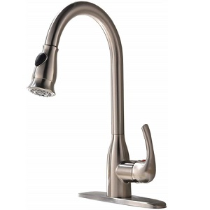 Ufaucet Single Handle Pulldown Solid Brass Kitchen Faucet