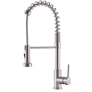 VAPSINT Pre Rinse Pull Down Sprayer Single Handle Kitchen Faucet