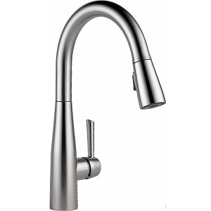 Delta Faucet Essa Single-Handle 3 Hole Kitchen Sink Faucet