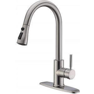 WEWE Single Handle 3 Hole Kitchen Faucet