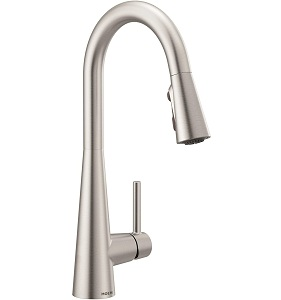 Moen 7864SRS Sleek One-Handle High Arc Pulldown Kitchen Faucet